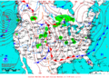 2012-01-22 Surface Weather Map NOAA.png