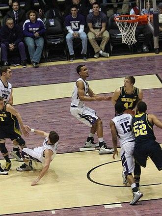 Personal foul (basketball) - Image: 20130103 Max Bielfeldt draws a foul (1)