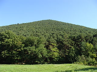 Hüttenberg (Haardt) mountain in Germany
