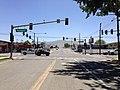 2014-06-12 12 12 03 View east from the western terminus of Nevada State Route 787 (Hanson Street) at U.S. Route 95 (West Winnemucca Boulevard) in Winnemucca, Nevada.JPG