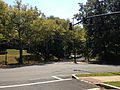 2014-08-27 12 47 58 Traffic signal at the intersection of Parkside Avenue (Mercer County Route 636), Bellevue Avenue and the entrance to Cadwalder Park in Trenton, New Jersey.JPG