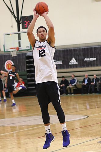 Ben Simmons - Simmons at a closed McDonald's All-American practice
