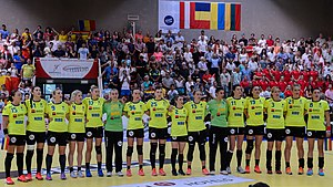 Romania women's national handball team - The team in 2017, under Ambros Martín.