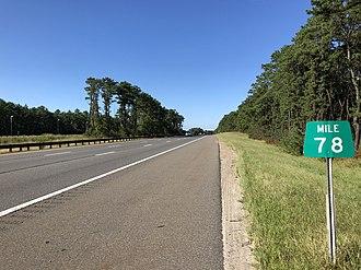 Berkeley Township, New Jersey - The northbound Garden State Parkway in Berkeley Township