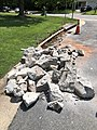 2021-07-13 11 48 33 A section of curb after removal and ready for replacement along Tranquility Court in the Franklin Farm section of Oak Hill, Fairfax County, Virginia.jpg