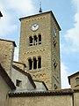 27 Sant Genís de Taradell, campanar, des del carrer de l'Església.jpg