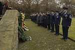 2985833 Leaders from the 52nd Fighter Wing, and German citizens pause after presenting wreaths during a German National Day of Mourning observance ceremony at the Kolmeshöhe Military Cemetery.jpg