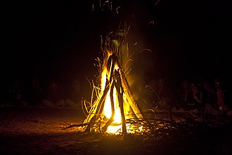 Campfire - Campfire at base camp Susunia Hill, Bankura, WB, India