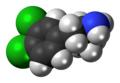 3,4-Dichloroamphetamine molecule spacefill.png