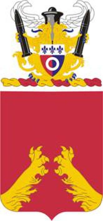 1st Battalion, 321st Field Artillery Regiment - Coat of arms
