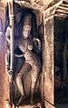 6th century Ravanaphadi cave temple, Ardhanarishvara (half Shiva, half Parvati), Aihole Hindu monuments Karnataka.jpg