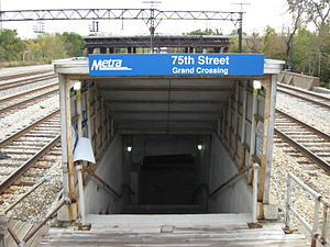 75th Street (Grand Crossing) station - Image: 75th Street Grand Crossing Metra Station