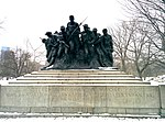 7th Regiment New York statue 5th Ave snow January 2013.jpeg
