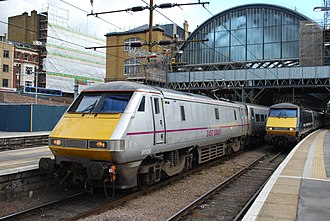 East Coast (train operating company) - Image: 91 106 Kings Cross(8077572452)