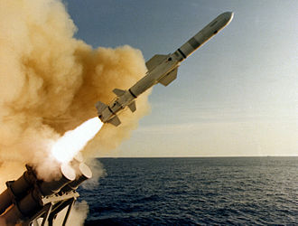 Anti-ship missile - Image: AGM 84 Harpoon launched from USS Leahy (CG 16)