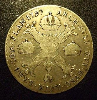 Kronenthaler - Kronenthaler with 3 crowns in 1797 - Franciscus II
