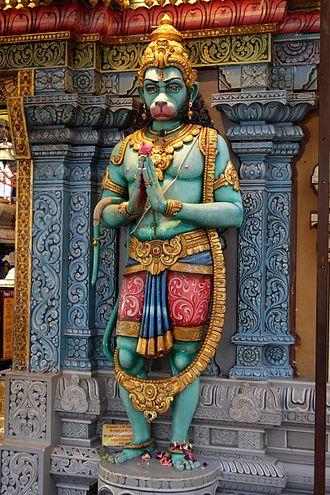 Hanuman - Hanuman with a Namaste (Anjali Hasta) posture