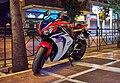 A Honda motorcycle on Stadiou Street.jpg