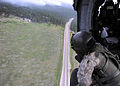 A U.S. Soldier with the 4th Combat Aviation Brigade, 4th Infantry Division flies aboard a UH-60 Black Hawk helicopter to survey the Black Forest Fire June 13, 2013, near Colorado Springs, Colo 130613-F-RR000-089.jpg