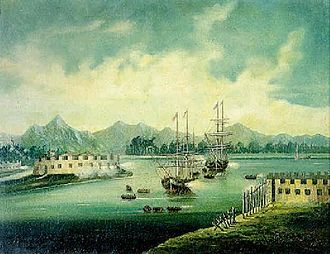 Folly fort - A battle at French Folly Fort by a Chinese painter