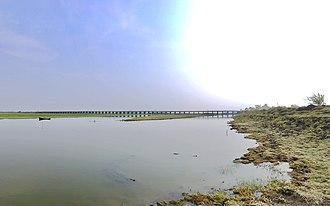 Kolleru Lake - A bridge over Kolleru