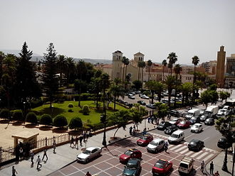 Oujda - Image: A general view of the side of the Boulevard Mohammed V in Oujda 1
