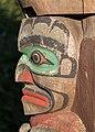 A human face on Kwakwaka'wakw Totem Pole, Victoria, British Columbia, Canada 04.jpg