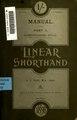 A manual of linear shorthand; an original scientific alternating system (IA manualoflinearsh00clayiala).pdf