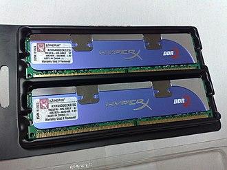 Kingston Technology - Image: A pair of Kingston KHX6400D2K2 2G 20131124