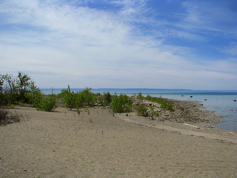 File:A sandy point on Georgian Bay.jpg