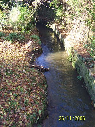 Eccleston, St Helens - The stream running through Eccleston