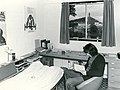 A student in their student accommodation, Wallace Monument in background.jpg