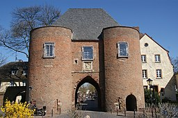 This is a photograph of an architectural monument.It is on the list of cultural monuments of Bergheim, no. 14