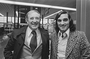 Danny Blanchflower - Blanchflower (left) with George Best in 1976