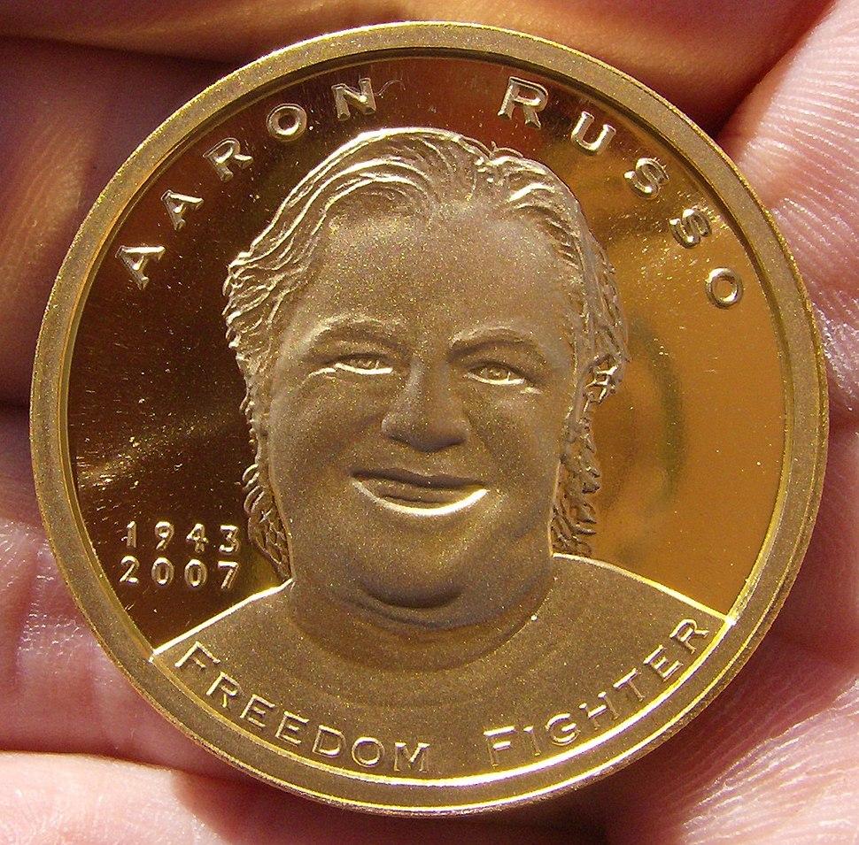 Aaron Russo Gold Commemorative Memorial Piece
