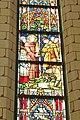 Aarschot - Gasthuiskapel - Detail Glasraam - Sint-Antonius en het wonder met de ezel.jpg
