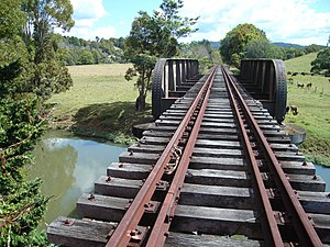 Murwillumbah railway line - Bridge at Mooball