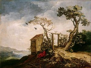 Lindo lamp - Landscape with the Prophet Elijah in the Desert, Hermitage Museum