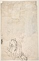 Abraham Entertaining the Three Angels (Genesis 18-1-15) (recto); A Couple Embracing, and Other (verso) MET DP810435.jpg