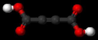 Acetylenedicarboxylic acid - Image: Acetylenedicarboxyli c acid 3D balls