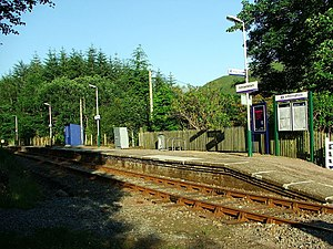 Achnashellach railway station - Achnashellach station in July 2006