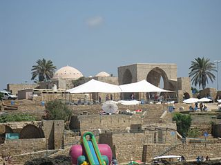 Ancient site on the Mediterranean coast of northern Israel