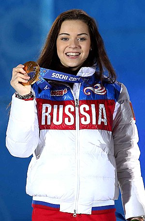 Adelina Sotnikova - Sotnikova at the 2014 Sochi Winter Olympics podium