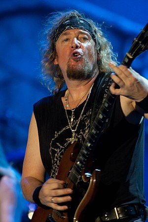 Adrian Smith - Adrian Smith performing with Iron Maiden at Ottawa Bluesfest in 2010