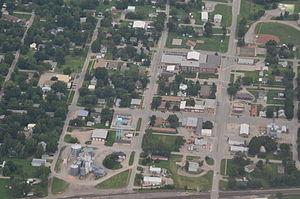 Lebo, Kansas - Aerial view of Lebo (2014)