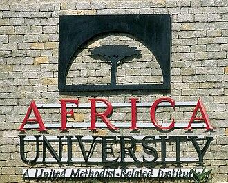 Africa University - AU Sign, main entrance
