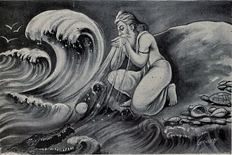 Agastya - Maharishi Agastya drinking the whole sea