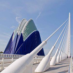 Assut de l'Or Bridge - L'Agora and L'Assut de l'Or Bridge, with its 29 parallel cables stays, are two parts of Valencia's City of Arts and Sciences complex