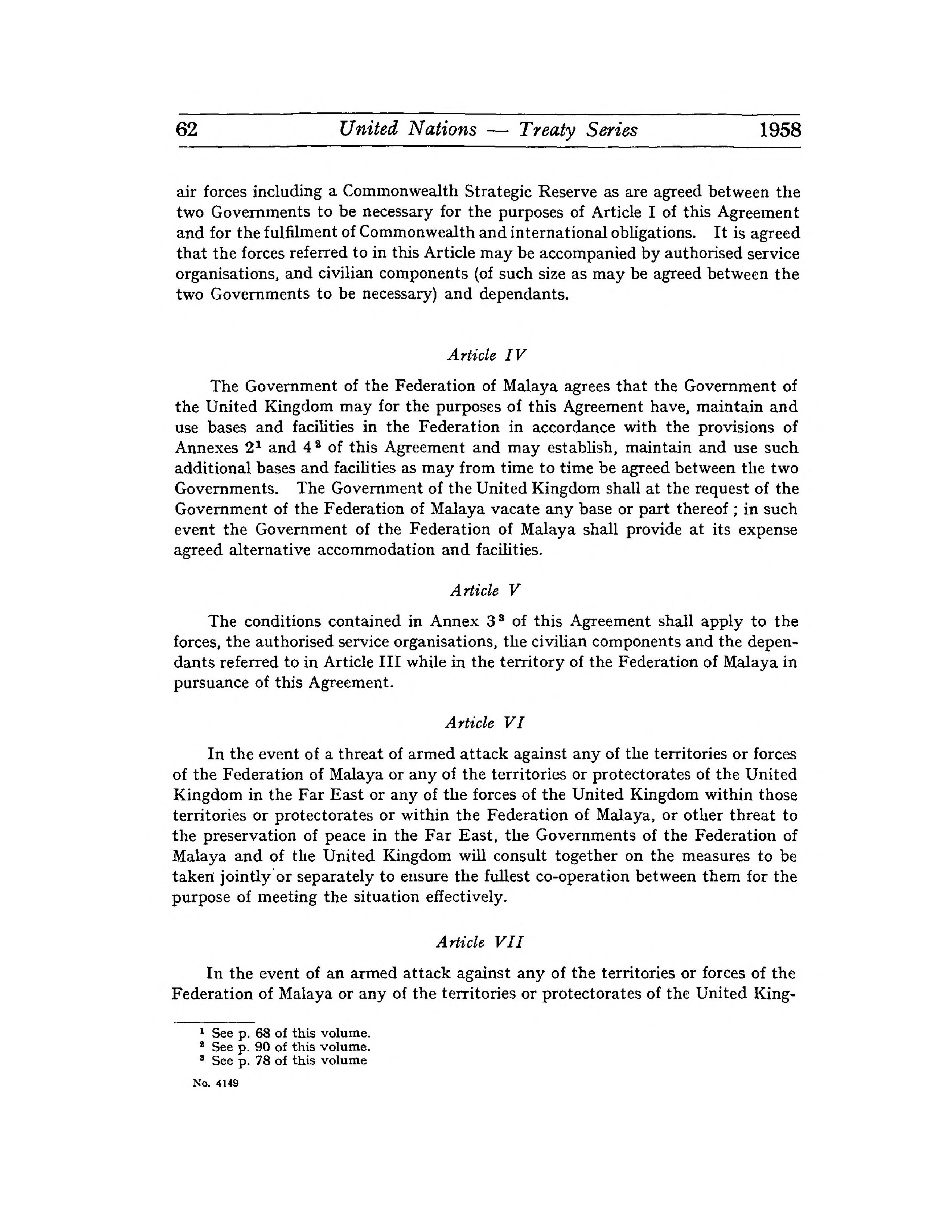 Pageagreement On External Defence And Mutual Assistance Between The