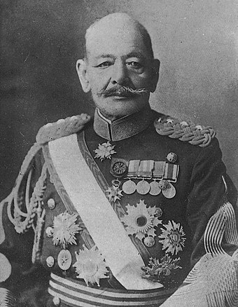 Count Akiyama Yoshifuru, served as a cavalry regimental commander in the First Sino-Japanese War of 1894-1895. In the Russo-Japanese War of 1904-1905, he led his troops against the Cossack cavalry divisions of the Imperial Russian Army. Akiyama Yoshifuru.jpg